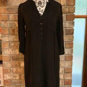 Black Maeve pilgrim dress from Anthropologie